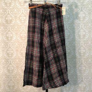 VINTAGE Mervyn's pink & black plaid skirt